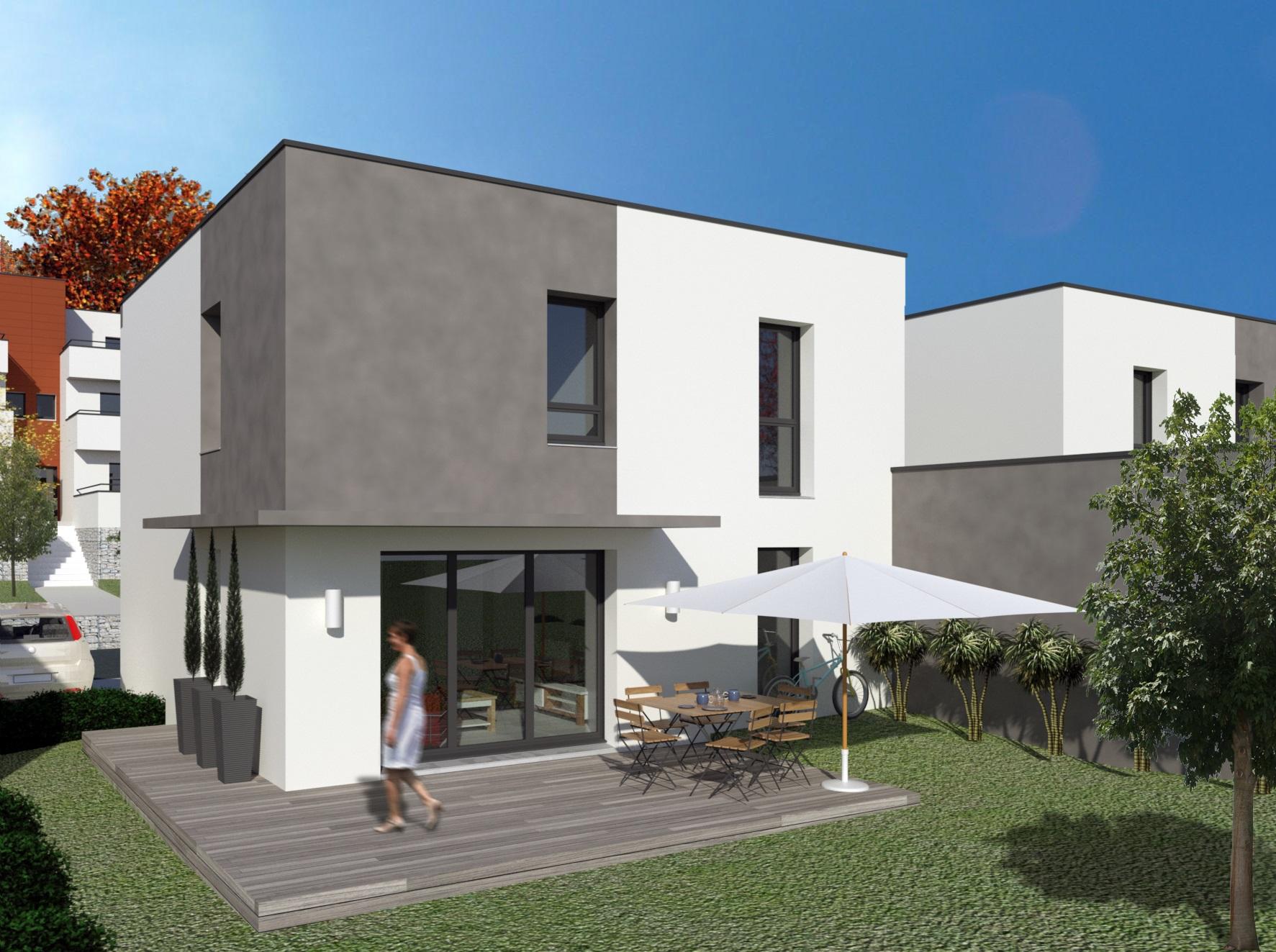 Offres programmes neufs villa contemporaine avec jardin for Garage saint jean de bournay